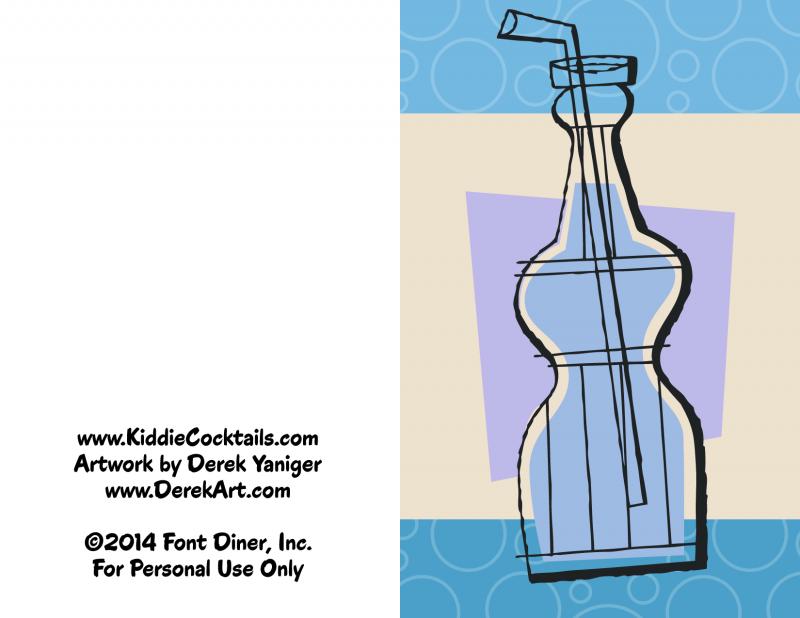 Blue Soda Party Invitation